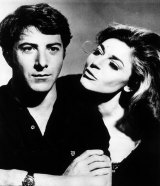 "Dustin Hoffman and Anne Bancroft in a still from The Graduate, one of the most classic examples of the ""predatory older woman"" stereotype on screen."