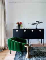 """STYLING TIP: David Clark recommends that people invest in this most refined of fabrics, but cautions that good velvet will bruise. """"That's okay, too – it's the patina of daily living."""""""