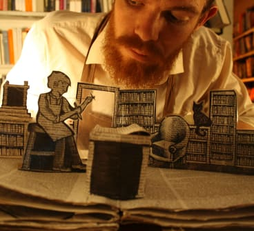 Inspired by the haunting works of Neil Gaiman and Joy Cowley, The Bookbinder is on at Gorman Arts Centre.