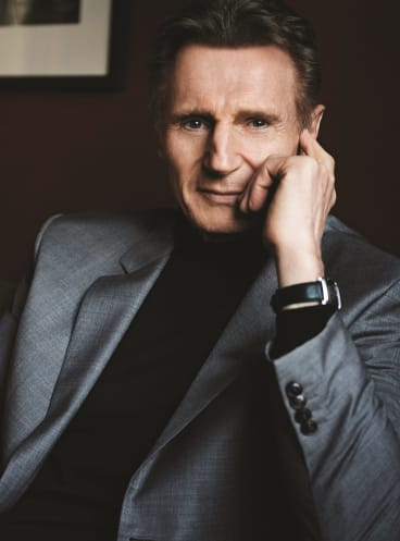 """Liam Neeson says working with Martin Scorsese can be """"f---ing terrifying''."""