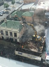 Shaq Demolition pulls down the pub last year.