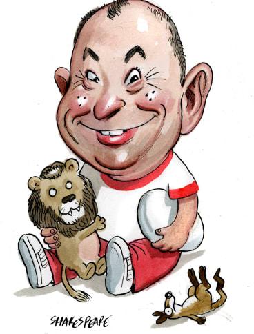 Battle: The Wallabies are going to test Eddie Jones' Lions. Illustration:  John Shakespeare