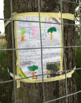 Students at Bell Primary School campaign against the portable classrooms.