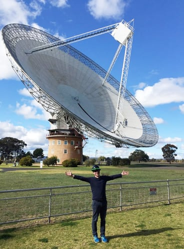 Swinburne University's Professor Matthew Bailes regularly uses the Parkes radio telescope.