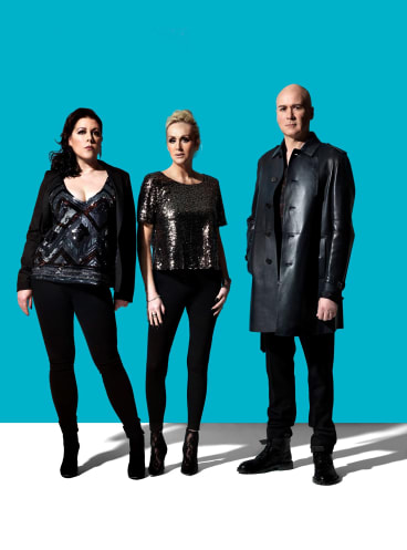 The Human League: Joanne Catherall, Susan Ann Sulley and Phil Oakey.