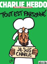 "<i>Charlie Hebdo</i>'s front page of the upcoming ""survivors"" edition."
