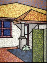 Howard Arkley, <i>Floriated Residence</i> 1994. The Vizard Foundation Art Collection of the 1990s, Melbourne. © The Estate of Howard Arkley. Courtesy Kalli Rolfe Contemporary Art.