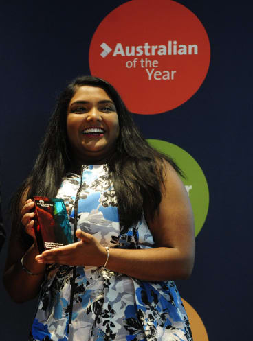 Nipuni Wijewickrema was announced ACT Young Australian of the Year at the 2016 ACT Australian of the Year awards ceremony held in the Gandel Hall at the National Gallery of Australia.