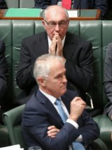Warren Truss with Prime Minister Malcolm Turnbull.