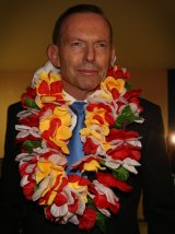 Tony Abbott at the Pacific Islands Forum in September.