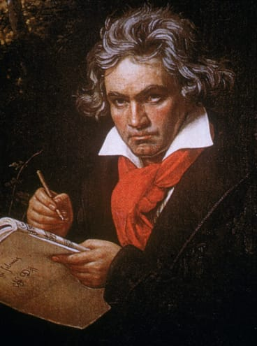 The famous Stieler portrait of Beethoven.