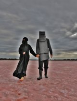 <i>Mars Drum</i> (Ned and Burka Woman) 2014.