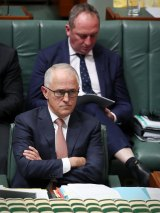 Prime Minister Malcolm Turnbull and Deputy Prime Minister Barnaby Joyce during question time on Tuesday.