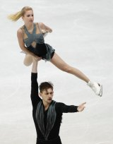 Ekaterina Alexandrovskaya and Harley Windsor in competition in January.