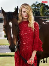 Security horses, including Jordan, were used in a shoot for Australia's Next Top Model.