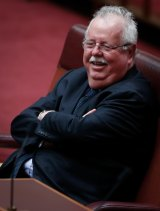 Senator Barry O'Sullivan during question time on Tuesday.