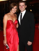 Karl Stefanovic and his wife Cass at the 2011 Logie Awards.