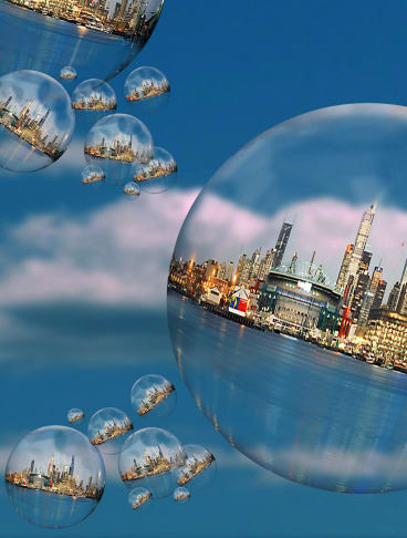 Banks will be under pressure if the property bubble bursts rather than has a slow-release correction.