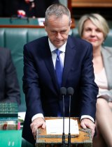 Opposition Leader Bill Shorten during question time on Thursday.