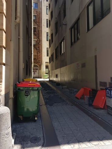 Dispute: The laneway in question.
