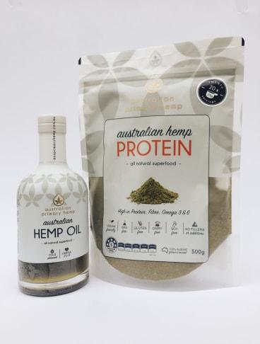 Australian Primary Hemp's protein product.