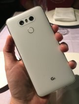 The LG is covered front and back with a new kind of Gorilla Glass.