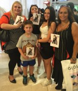 Jade Brincat camped for 36 hours to meet Kendall and Kylie with her mother Tammy, 50, little brother Lucas, 9, sister Caitlyn, 14, and her two friends Sammy, 14, and Bella, 16.