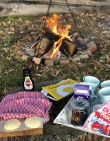 Nothing better in winter than best friends, a campfire, damper, toasted marshmallows and The Quiz.