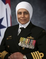Captain Shindy is a 26-year navy veteran, a Telstra NSW Businesswoman of the Year winner and a mentor for the Lebanese Muslim Association.