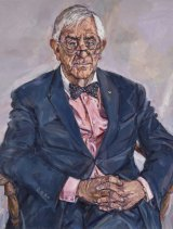 Lewis Miller's portrait of retired judge Bernie Teague.