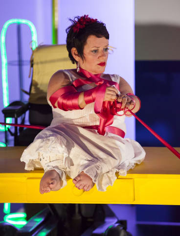 Caroline Bowditch performs in Falling in love with Frida, part of Theatre Works' 2016 season.