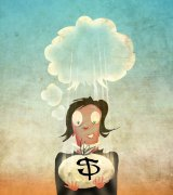 It can take a while to psychologically adjust to an unexpected windfall. Illustration: Michael Mucci