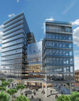 An artist's impression of the University of Western Sydney's new building in Parramatta.