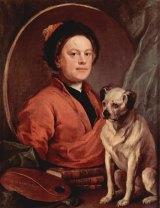William Hogarth's Self-Portrait with Pug-Dog.
