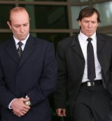 Brothers Chris, left, and Gerry Apostolatos pleaded guilty at the Melbourne Magistrates Court on Wednesday.