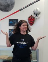 Kylie Sturgess is leading the 'Don't make yourself as Jedi' campaign.