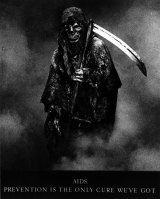 The original Grim Reaper image used in AIDS advertising in the 80s.