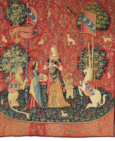 """Smell"" from The Lady and the Unicorn tapestry series, c1500"