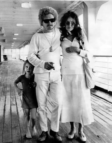Brett, Wendy and Arkie Whiteley returning to Sydney in 1962.