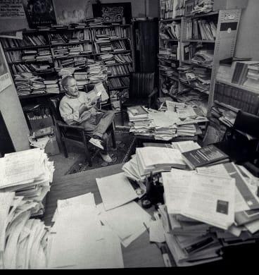 Garth Nettheim in his office at UNSW.