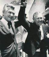 Bob Hawke and Alan Bond in 1983.