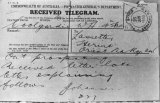 A telegram sent by Olof on receiving a letter from Lasseter - probably in reply to a letter Olof had sent stating that he also knew the location of the reef.