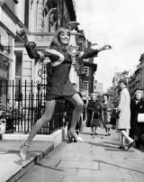 Pattie Boyd modelling in London in 1966.