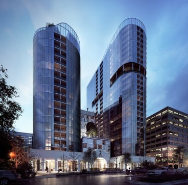 An artists impression of Grand Central Towers which will be home to 430 apartments across the two towers with commercial space on the ground floor.