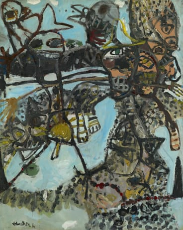 John Olsen's Journey into the you beaut country no.1 (1961).