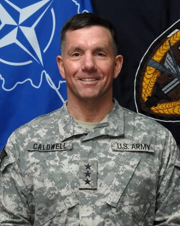 Dream man: scammers used the image of US General William Caldwell to lure women, including Vanessa Gregory.