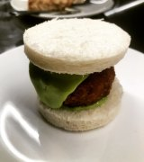 Go-to snack: Crumbed pig's head terrine sandwich.