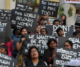 Activists from various Indian rights organisations demonstrate in Bangalore in 2012 against a pernicious Indian culture that too often turns a blind eye to sexual molestation.