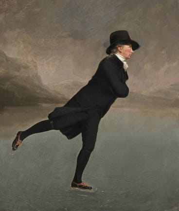 Commonly known as the <i>Skating Minister</i>, this portrait of the Reverend Robert Walker Skating on Duddingston Loch (c1795) by Henry Raeburn is regarded as Scotland's equivalent of the Mona Lisa.