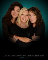 Amy Sky, Olivia Newton-John and Beth Nielsen Chapmanon the cover of album <I>Liv On</i>.